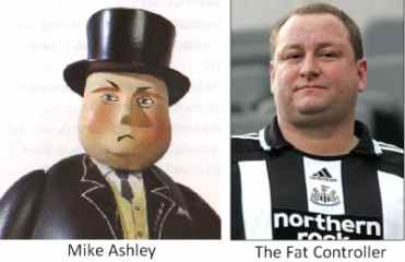 Mike Ashley fat controller