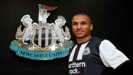 This man is looking good in a Newcastle shirt