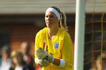 Carly Telford in action for England