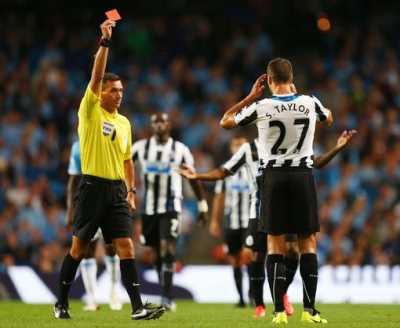 Steven Taylor red card