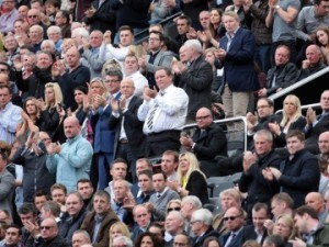 Mike Ashley at West Ham game